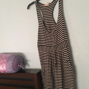 Juicy couture striped navy dress.